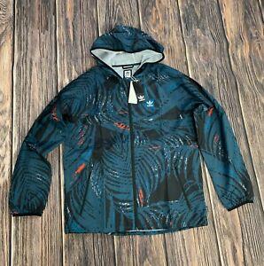 Adidas Originals Allover Tropical Print BB Wind Men Jacket Teal EC7327 Medium