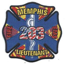 **MEMPHIS TENNESSEE FIRE DEPARTMENT LIEUTENANT 203 FIRE EMS PATCH**