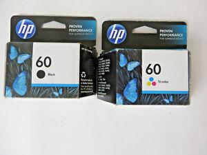 Genuine HP 60 Ink Cartridges Black and Color Bundle