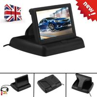 """Foldable 4.3""""Inch Reverse Rear View Monitor Color LCD for Car Back Up Camera ik"""