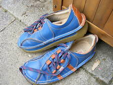 Damen Schuh, TMA, 37/38, Halbschuh, blau, ausgefallen, gezackte Sohle
