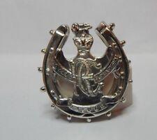Unusual Hallmarked silver Royal engineers Luck Horse shoe Sweetheart brooch