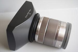 49-58mm Ring + 58mm Lens Hood for Sony E 18-55mm Lens SONY NEX-7 6 5 5N F3 3C