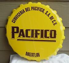 Pacifico Beer New Large Tin Bottle Cap Sign .Cerveceria Del Pacifico S.A. DE C.V