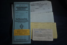 1928 Chevy Automobile Insurance Policy by Metropolitan Casualty Insurance Co. NY
