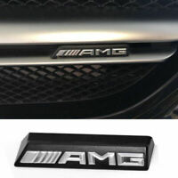 AMG Emblem Badge Front Grille Grill Plastic Silver Racing Logo For Benz AMG 3D