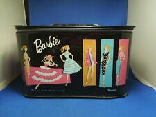 1961 Ponytail Mattel Barbie Black Vinyl Box With Illustrations