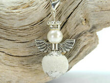 3 DIY Charm Anhänger Engel Schutzengel Wechselanhänger weiß Perlenengel
