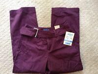 NWT Women's Dockers Cropped Pant Nouveau Fit-Size 4