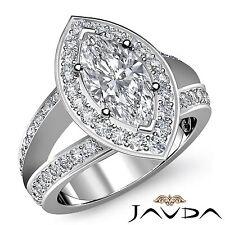 Marquesita Diamante de Compromiso Aniversario Impresionante Anillo GIA i SI1