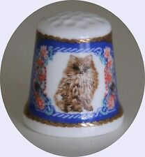 Porzellan Fingerhut  Perserkatze - Fine Bone China !! Fingerhut Kunstarchiv !!