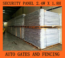NEW Heavy Duty Security Fence Fencing Spear 2400 x 1800mm Black Panel 2.4x1.8