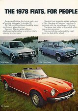 1978 FIAT 131 128 Spider X19 2-page - Classic Car Advertisement Print Ad J97