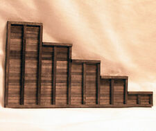 TIMBER RETAINING WALL O On3 On30 Model Railroad Structure Unptd Wood Kit HL204O