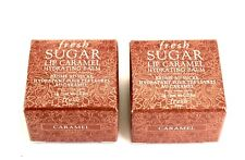 FRESH Sugar CARAMEL Lip Balm LOT 2 x .07 Oz TravelSz Jars NEW wBOX FREE FASTSHIP