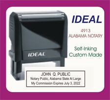 Alabama Notary Public Trodat Ideal Custom Self Inking Rubber Stamp
