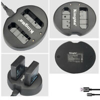 EN-EL14 For Nikon D5200 D3200 D3100 D5100 D5300 Battery USB Double Charger
