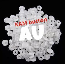 50 Set Size 20 T5 White KAM Plastic Resin Press Studs Snap Fasteners Poppers AU
