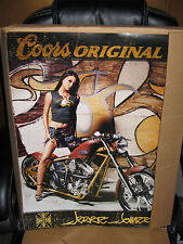 West Coast Choppers Jesse James Sexy Biker Girl 2004 Coors Light Poster 24X18 !