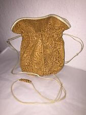 Grace Ann Agostino Beautiful Leather One of A Kind Lazer Cut Shoulder Pouch Bag