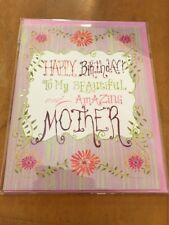 Happy Birthday To My Beautiful And Amazing Mother Birthday Card