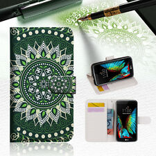 Green AZTEC TRIBAL Wallet Case Cover For ZTE AXON mini --A002