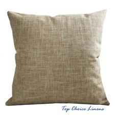 45cm x 45cm Home Decorative Solid Color Linen Look Cushion Cover-Khaki