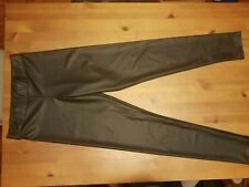 BLACKHEART HOT TOPIX FAUX LEATHER BLACK PULL ON PANTS Size Small