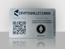 ETHEREUM / ETH Cryptocurrency Storage Wallet Cards / Gift