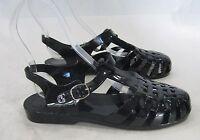 new Black Summer Beach Retro  Jellies Jelly cute Sandal (age 7- 10) girl Size 3