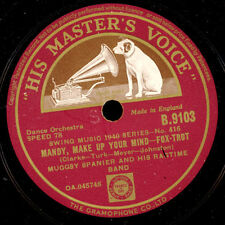 MUGGSY SPANIER & HIS RAGTIME BAND Mandy, make up your../Lonesome Road 78rpm X410