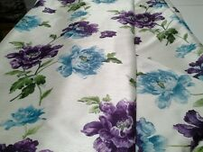 "JOHN LEWIS FAUX SILK CAMELLIA AQUAPLUM INTERLINED CURTAINS 82"" w x 69"" d"