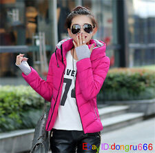2017 Women's Down Cotton Short Jacket Outwear Ladies Winter Warm Coat