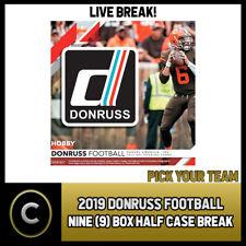 2019 Caja de 9 de fútbol DONRUSS (mitad Case) romper #F286 - Elige Tu Equipo