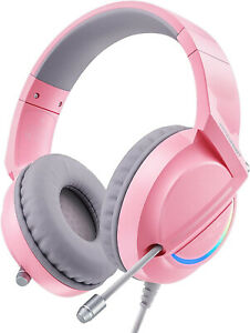 Gaming Headse with Crystal Noise Cancelling Microphone & LED Light 7.1 Stereo