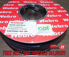Webro 50m PVC Black WF100 + 50 FREE CABLE CLIPS