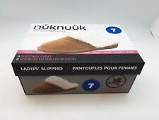 NukNuuk Ladies Leather Slippers: Size 7 | Chestnut (NUK01)