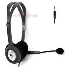 Logitech H111 Stereo On Ear Headphone Headset with Microphone 3.5mm Jack