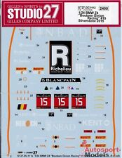 1/24 2015 Boutsen Ginion BMW Z4 GT3 Silverstone #15 decal set ~ Studio 27 DC1112