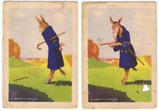 Colección completa de 2 cromos fábula El Burro Flautista 7,5 x 10,5 cm