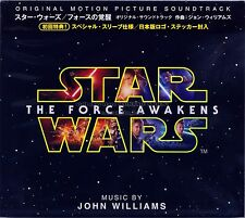 "John Williams ""STAR WARS: THE FORCE AWAKENS"" score Japan CD brand new"