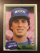 1981 Topps Ross Baumgarten Chicago White Sox 398