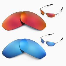 New Walleva Polarized Fire Red + Ice Blue Lenses For Oakley Whisker