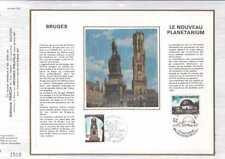 Feuillet CEF Belgique n°109 Bruges-Le nouveau planétarium 2 cachets 22-6-74