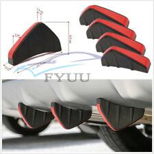 4 Pcs PVC Universal Car SUV Rear Bumper Diffuser Fin Spoiler Lips Protector New