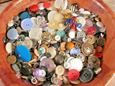 Vtg sewing buttons 2 Lbs lot Mix pink red white green black brown silver purple