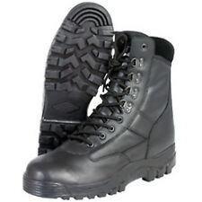 MIL COM MENS  All Leather Black Patrol Boots British Army Security