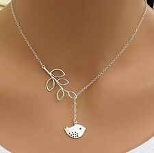 Silver Chain Necklace Fashion Jewelry Pendant Clavicle Jewelry Bird  Adjustable