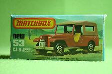 Maqueta de coche-Matchbox-Superfast-nº 53 CJ 6 jeep-en su embalaje original