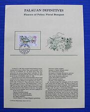 Palau (142) 1988 Flowers of Palau: Flower Bouquet Definitives Souvenir Page